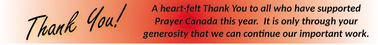 Prayer Canada - Thank you